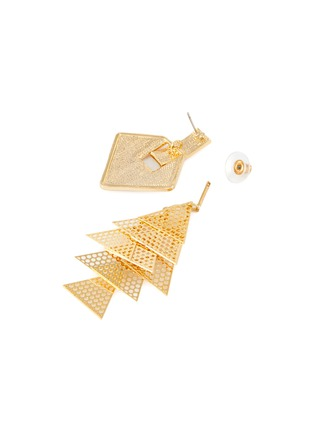 Detail View - Click To Enlarge - VENNA - Square stud layered drop earrings