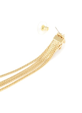 Detail View - Click To Enlarge - VENNA - Detachable crystal stud fringe drop earrings