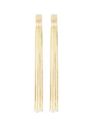Main View - Click To Enlarge - VENNA - Detachable crystal stud fringe drop earrings