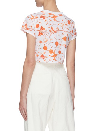 Back View - Click To Enlarge - FIORUCCI - Floral Print Crop T-shirt