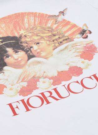 - FIORUCCI - Angel print logo sleeve T-shirt