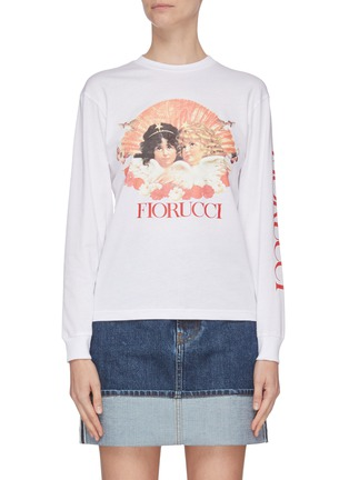 Main View - Click To Enlarge - FIORUCCI - Angel print logo sleeve T-shirt