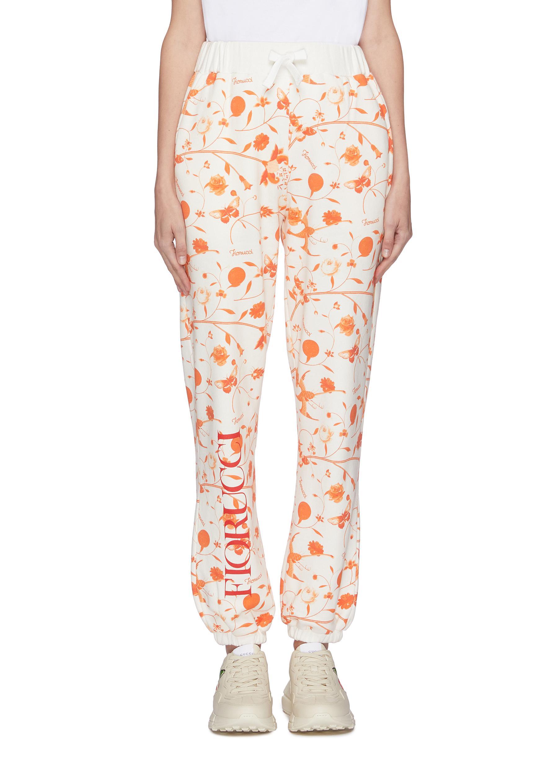 Buy Fiorucci Pants & Shorts Floral print jogging pants