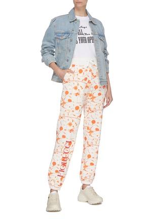 Figure View - Click To Enlarge - FIORUCCI - Floral print jogging pants