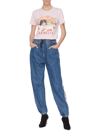 Figure View - Click To Enlarge - FIORUCCI - Angel print T-shirt