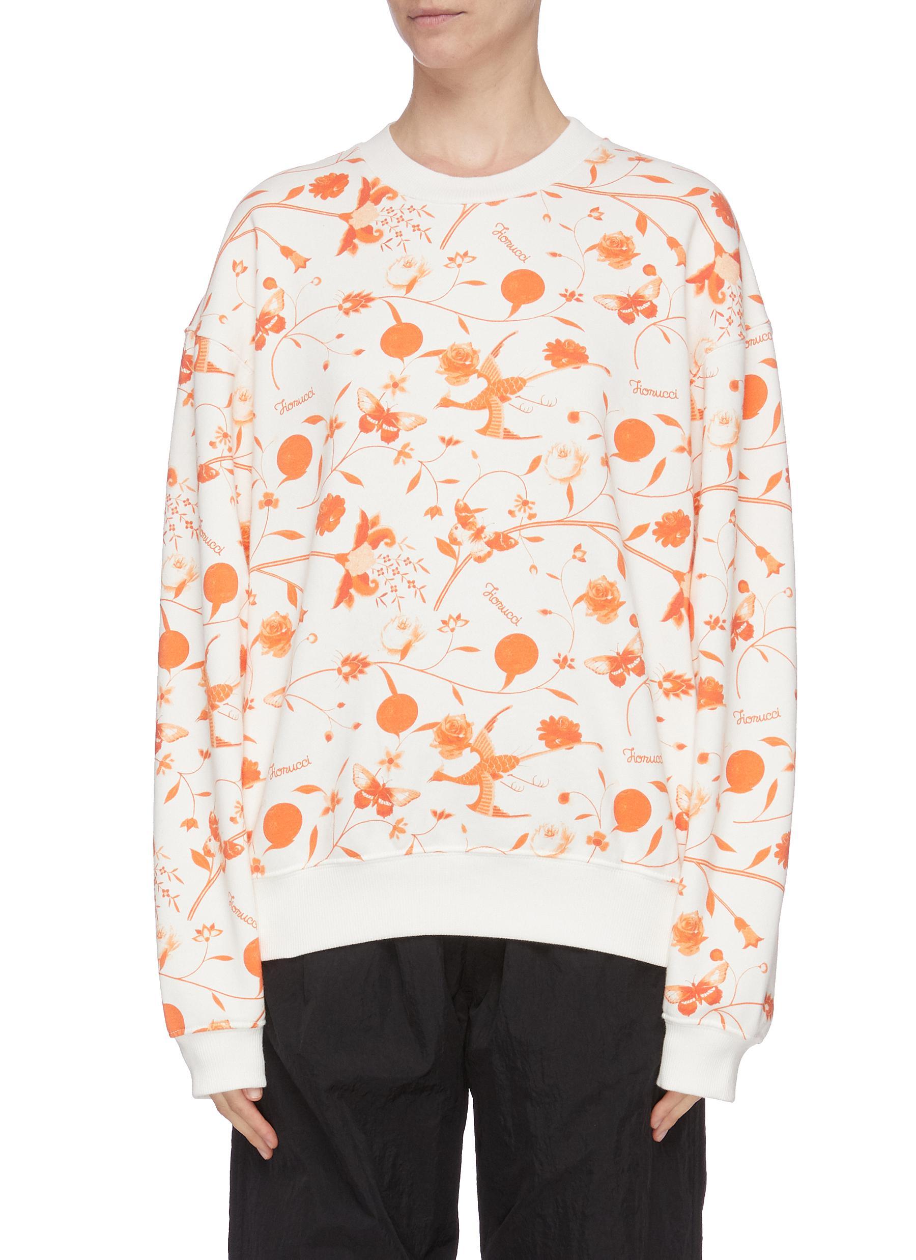 shop Fiorucci Floral print sweatshirt online