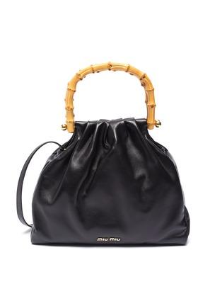 Main View - Click To Enlarge - MIU MIU - Bamboo Handle Small Satchel Bag