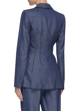 Back View - Click To Enlarge - GABRIELA HEARST - Minos' thread embroidery blazer