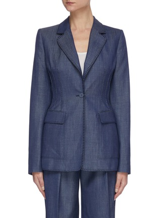 Main View - Click To Enlarge - GABRIELA HEARST - Minos' thread embroidery blazer