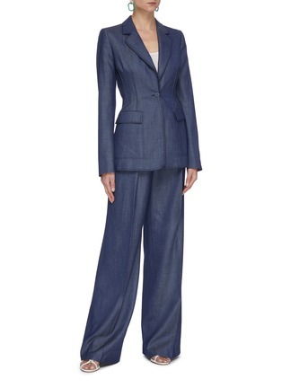 Figure View - Click To Enlarge - GABRIELA HEARST - Minos' thread embroidery blazer