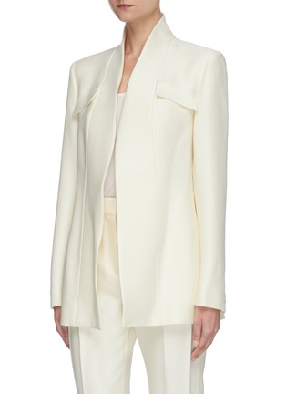 Detail View - Click To Enlarge - GABRIELA HEARST - Proteus' belted virgin wool silk blend blazer