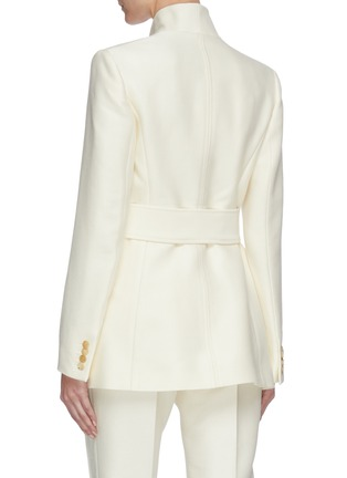 Back View - Click To Enlarge - GABRIELA HEARST - Proteus' belted virgin wool silk blend blazer
