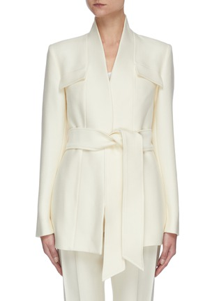 Main View - Click To Enlarge - GABRIELA HEARST - Proteus' belted virgin wool silk blend blazer