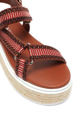 Detail View - Click To Enlarge - PRADA - Flat platform espadrille sandals