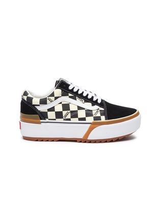 Main View - Click To Enlarge - VANS - 'Old Skool Stacked' canvas skate sneakers