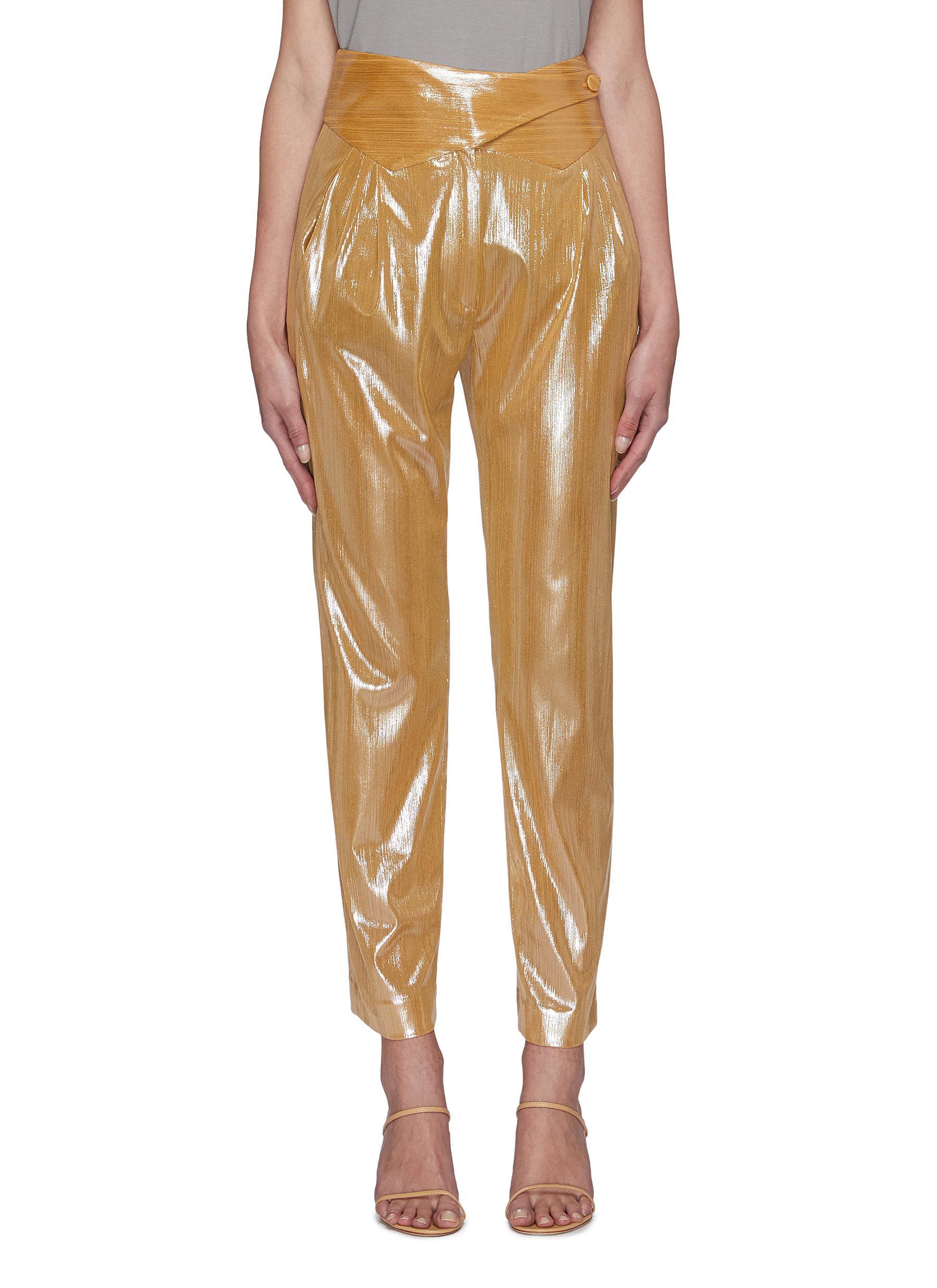 shop Blazé Milano Nova' metallic basque pants online