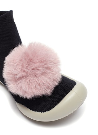 Detail View - Click To Enlarge - COLLÉGIEN - POMPOM TODDLER SOCK KNIT SNEAKERS