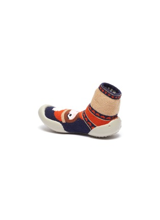 Detail View - Click To Enlarge - COLLÉGIEN - Girl intarsia toddler sock knit sneakers