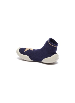 Detail View - Click To Enlarge - COLLÉGIEN - Star intarsia toddler sock knit sneakers