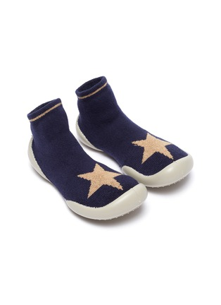 Figure View - Click To Enlarge - COLLÉGIEN - Star intarsia toddler sock knit sneakers