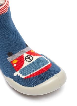 Detail View - Click To Enlarge - COLLÉGIEN - Caravan intarsia toddler sock knit sneakers