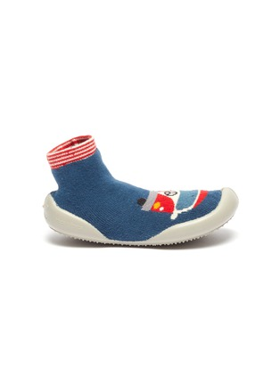 Main View - Click To Enlarge - COLLÉGIEN - Caravan intarsia toddler sock knit sneakers