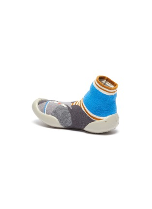 Detail View - Click To Enlarge - COLLÉGIEN - Elephant intarsia toddler sock knit sneakers