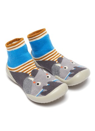 Figure View - Click To Enlarge - COLLÉGIEN - Elephant intarsia toddler sock knit sneakers