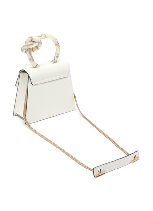 Detail View - Click To Enlarge - BENEDETTA BRUZZICHES - 'Brigitta Small' knotted handle leather crossbody bag