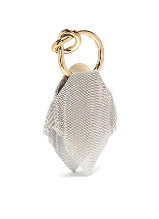 Detail View - Click To Enlarge - BENEDETTA BRUZZICHES - 'Casper' rhinestone mesh knotted handle clutch