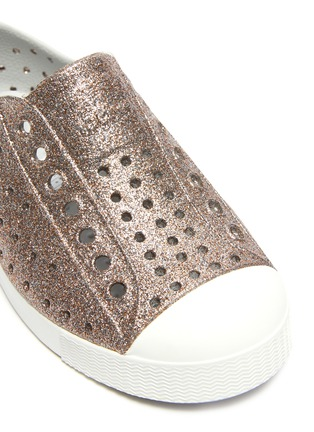 Detail View - Click To Enlarge - NATIVE - 'Jefferson' perforated kids slip-on sneakers