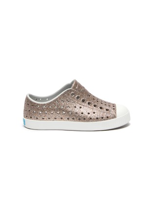 Main View - Click To Enlarge - NATIVE - 'Jefferson' perforated kids slip-on sneakers