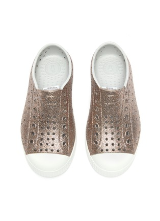 Figure View - Click To Enlarge - NATIVE - 'Jefferson' perforated kids slip-on sneakers