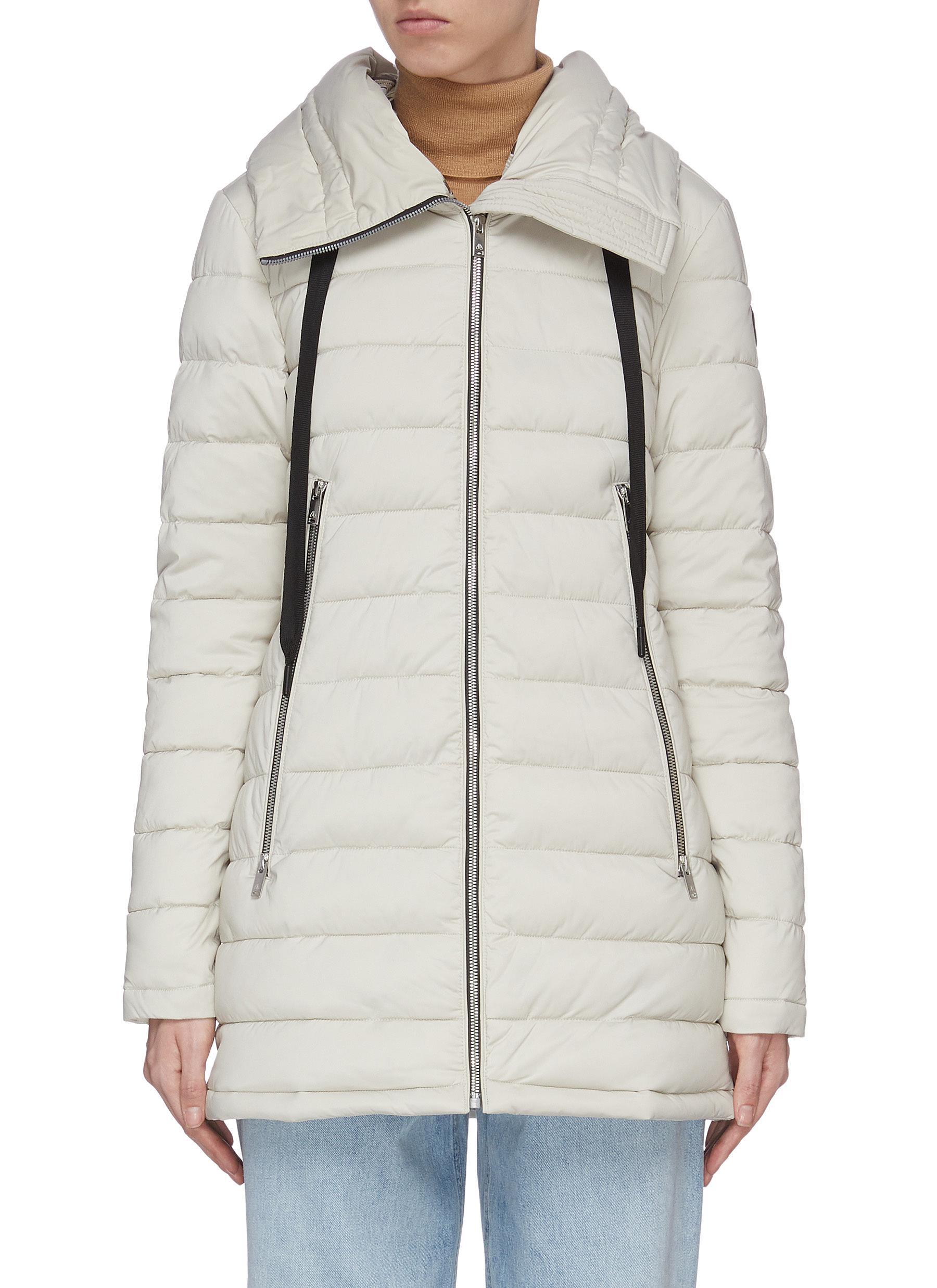 shop Moose Knuckles 'Trophy' oversize hood long puffer jacket online