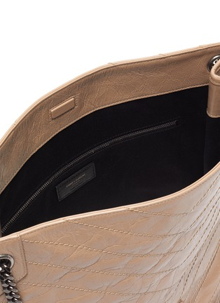 Detail View - Click To Enlarge - SAINT LAURENT - Niki' domesticated calf leather shopper tote bag