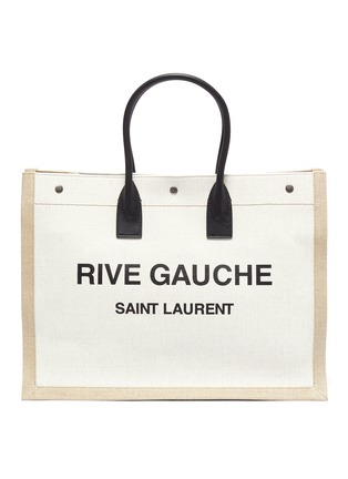 Main View - Click To Enlarge - SAINT LAURENT - 'Rive Gauche' canvas leather tote bag