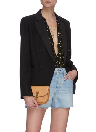 Front View - Click To Enlarge - SAINT LAURENT - Kaia' calfskin leather mini crossbody bag