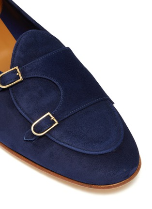 Detail View - Click To Enlarge - EDHÈN - 'Brera' double monk strap suede shoes