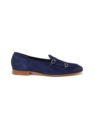 Main View - Click To Enlarge - EDHÈN - 'Brera' double monk strap suede shoes