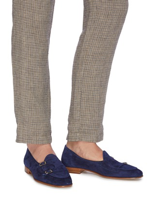 Figure View - Click To Enlarge - EDHÈN - 'Brera' double monk strap suede shoes