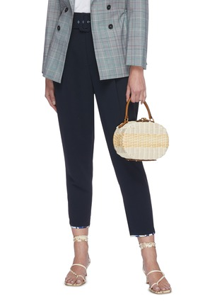 Figure View - Click To Enlarge - MARK CROSS - Gianna' oval rattan shoulder bag