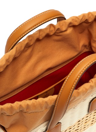 Detail View - Click To Enlarge - MARK CROSS - Manray' rattan bag