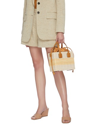 Front View - Click To Enlarge - MARK CROSS - Manray' rattan bag