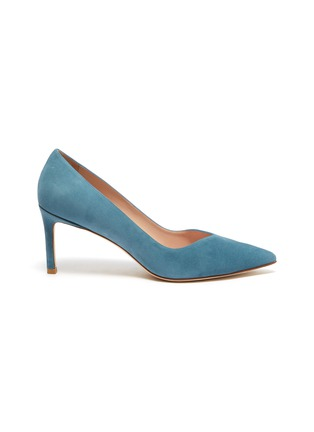 Main View - Click To Enlarge - STUART WEITZMAN - 'Anny' sweetheart vamp suede pumps
