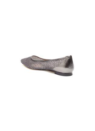 - STUART WEITZMAN - 'Tasha' metallic mesh pointed toe flats