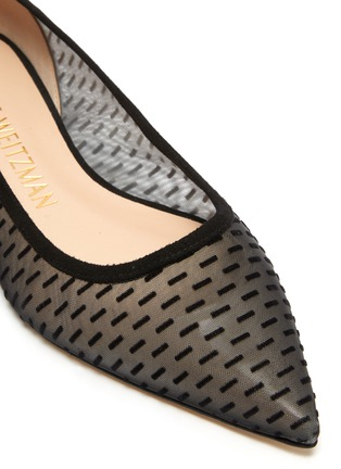 Detail View - Click To Enlarge - STUART WEITZMAN - 'Tasha' sheer mesh pointed toe flats