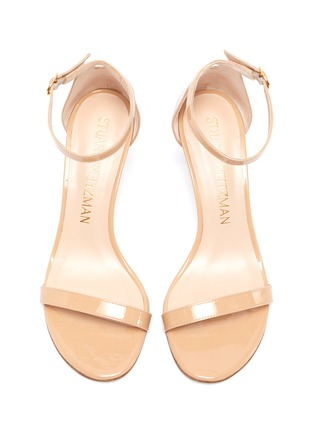 Detail View - Click To Enlarge - STUART WEITZMAN - 'Nunakedstraight 80mm' single band leather sandals