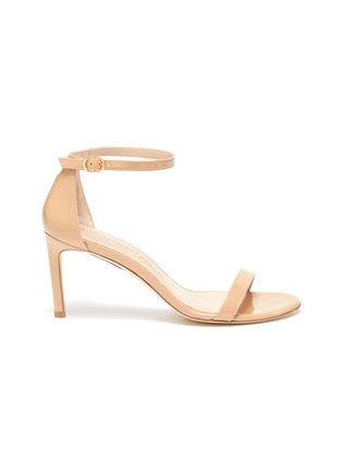 Main View - Click To Enlarge - STUART WEITZMAN - 'Nunakedstraight 80mm' single band leather sandals