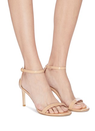 Figure View - Click To Enlarge - STUART WEITZMAN - 'Nunakedstraight 80mm' single band leather sandals