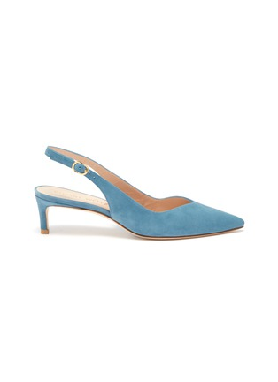 Main View - Click To Enlarge - STUART WEITZMAN - 'Edith' suede slingback pumps